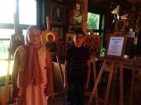 Праздничное занятие, посвященное 700-летию прп. Сергия Радонежского в детской группе воскресной школы