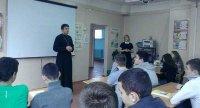 Встреча школьников с отцом Кириллом Гусевым