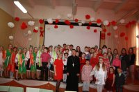 Пасхальный концерт в Савельевской школе деревни Пешки