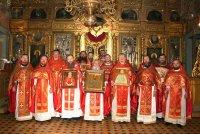 Божественная Литургия в Успенском храме ддеревни Обухово