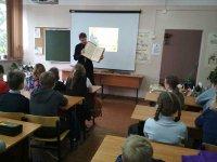 Беседа с учащимися Савельевской школы