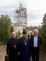Освящение креста и купола Никольского храма д. Большевик